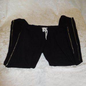 Monrow sweatpants, full zipper legs